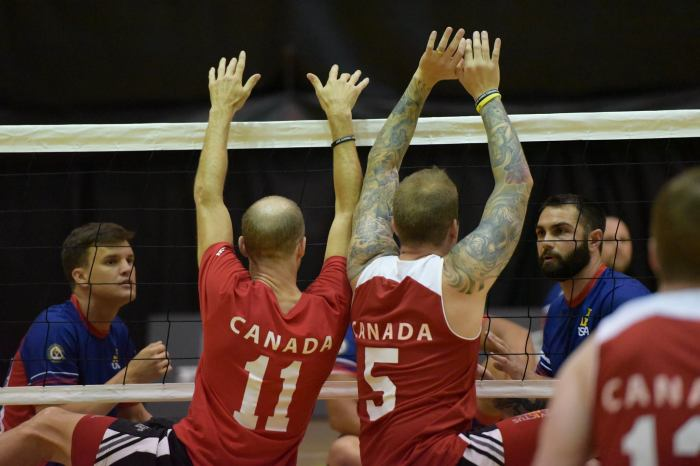 Team Canada competes in Invictus Games 2016 in seating volleyball